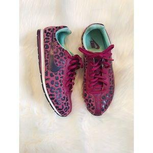 Purple Leopard Nike Sneakers
